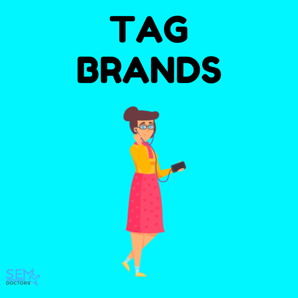 tag popular brands on instagram