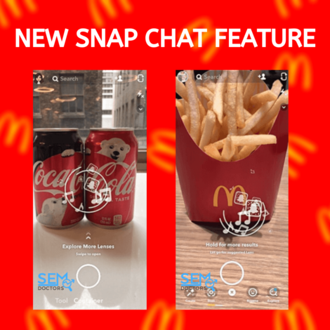 Snapchat Scan Sign For Macdonald & Coco-cola